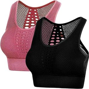 2 Seamless Cut Out Back Sports Bra Removal Pads.